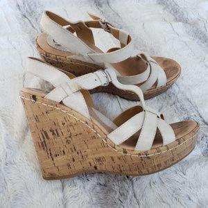 Born Concept platform cork sandals